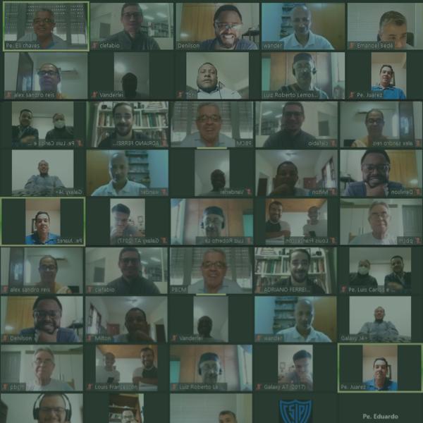 Padres e irmãos da PBCM em reunião online